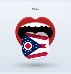 Electoral vote of ohio abstract mouth vector