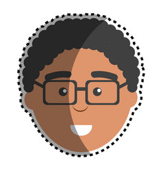 man with facial expression using glasses vector image
