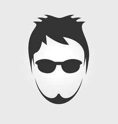 Mens hairstyle vector