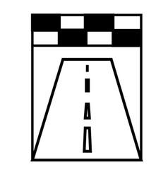 Racing road icon vector