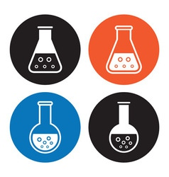 Laboratory equipment icons vector