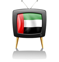 A television with the uae flag vector