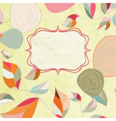 Floral backgrounds with vintage roses EPS 8 vector image