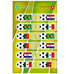 Football tournament of brazil 2014 group a vector