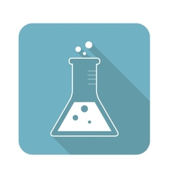 Square conical flask icon vector
