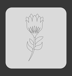 Flower icon vector