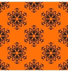 Seamless elegant Ornamental stylized flower vector image