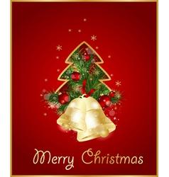 merry christmas elegant background vector image