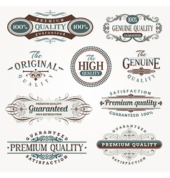 Decorative labels of quality vector