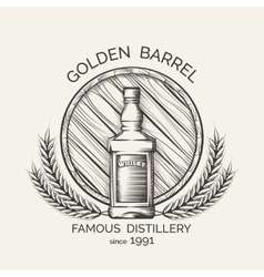Whisky distillery emblem vector