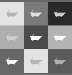Bathtub sign grayscale vector