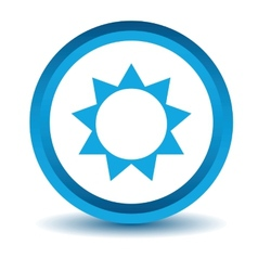 Blue sun icon vector
