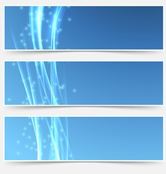 Bright swoosh smooth wave web header collection vector