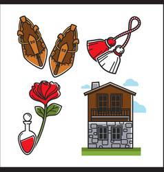 british symbolic items that have cultural value vector image vector image