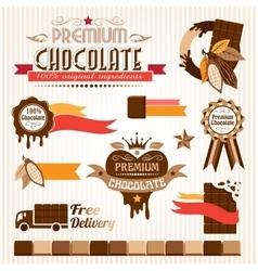 Chocolate decorative elements vector image