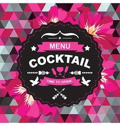 Cocktail bar menu template design vector image vector image