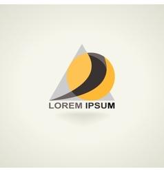 Conceptual triangle icon template logo vector image vector image