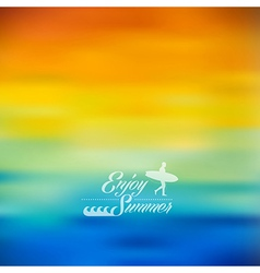 Enjoy summer colorful blurred background vector