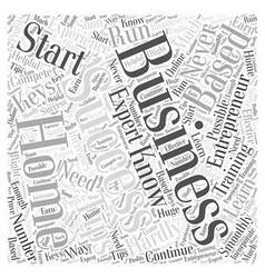 Entrepreneur home based business word cloud vector