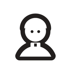 Flat icon in black and white priest vector