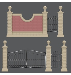garden gate vector image vector image