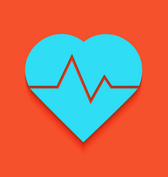 Heartbeat sign whitish icon vector