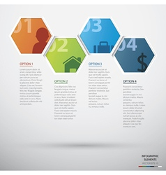 Hexagon infographic vector image vector image