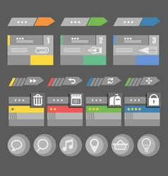 Interface bars template with icons vector image vector image