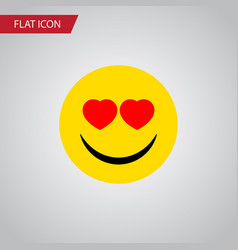 Isolated heart-shaped eyes flat icon love vector