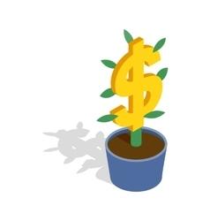 Money tree icon isometric 3d style vector