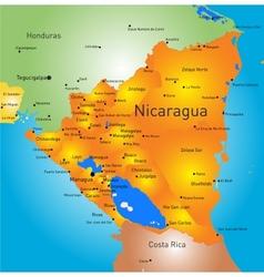 nicaragua vector image vector image