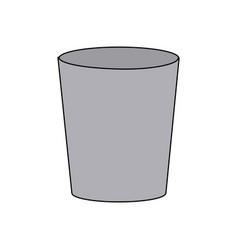Plastic cup empty utensil icon vector
