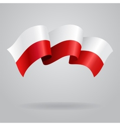 Polish waving Flag vector image vector image