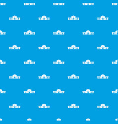 railway station building pattern seamless blue vector image