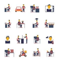 Sedentary icon flat vector