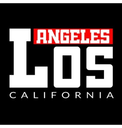 T shirt Los Angeles CA vector image vector image