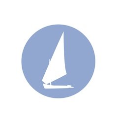 yacht2 2 vector image