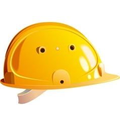 yellow helmet builder vector image