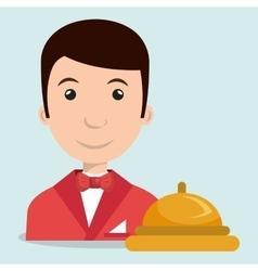 waiter housekeeper man hotel vector image