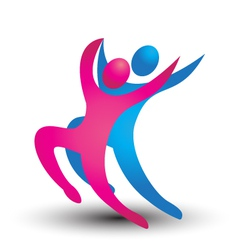 Dancer figures logo vector image
