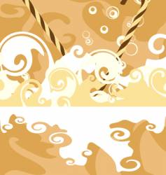chocolate abstract vector image