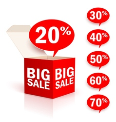 Big box sale vector