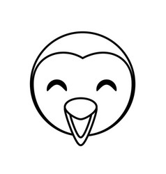 face penguin animal outline vector image
