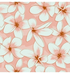 Pink floral seamless pattern vector