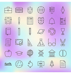 School and education line science icons set vector