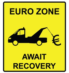 Euro zone sign vector