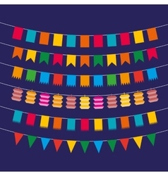 Pennant bunting collection vector