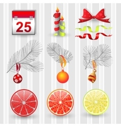 Set design new year vector