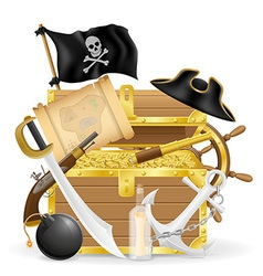 pirate concept icons 04 vector image