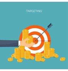 Ector  flat header target coins vector